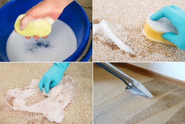 Гораздо проще чистить ковры с коротким ворсом – для этого можно использовать нашатырь, уксус