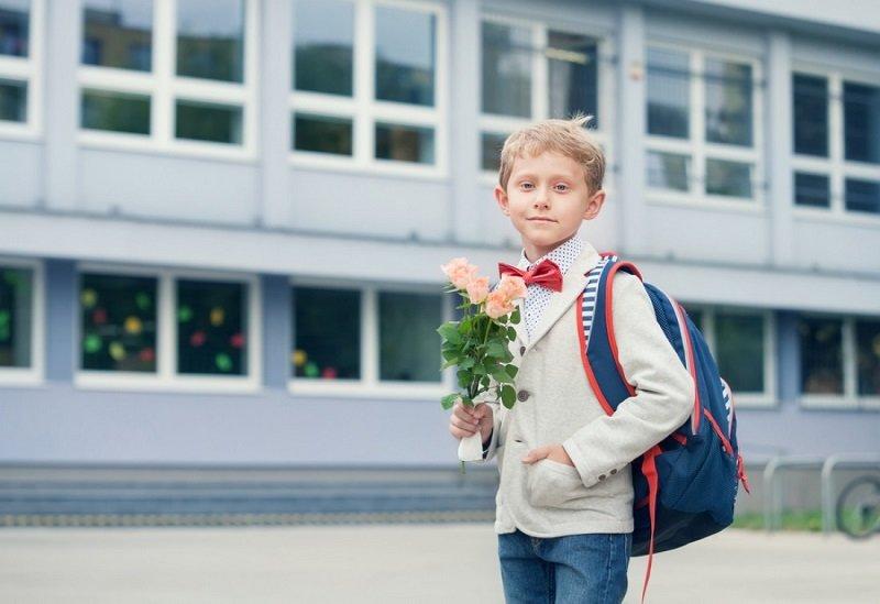 скромный букет для учительницы