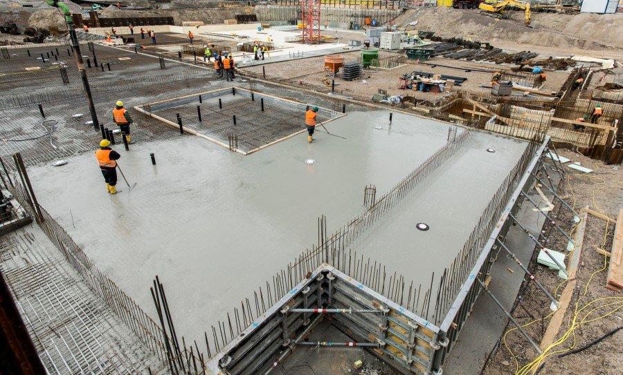 бетон, фундаментные блоки