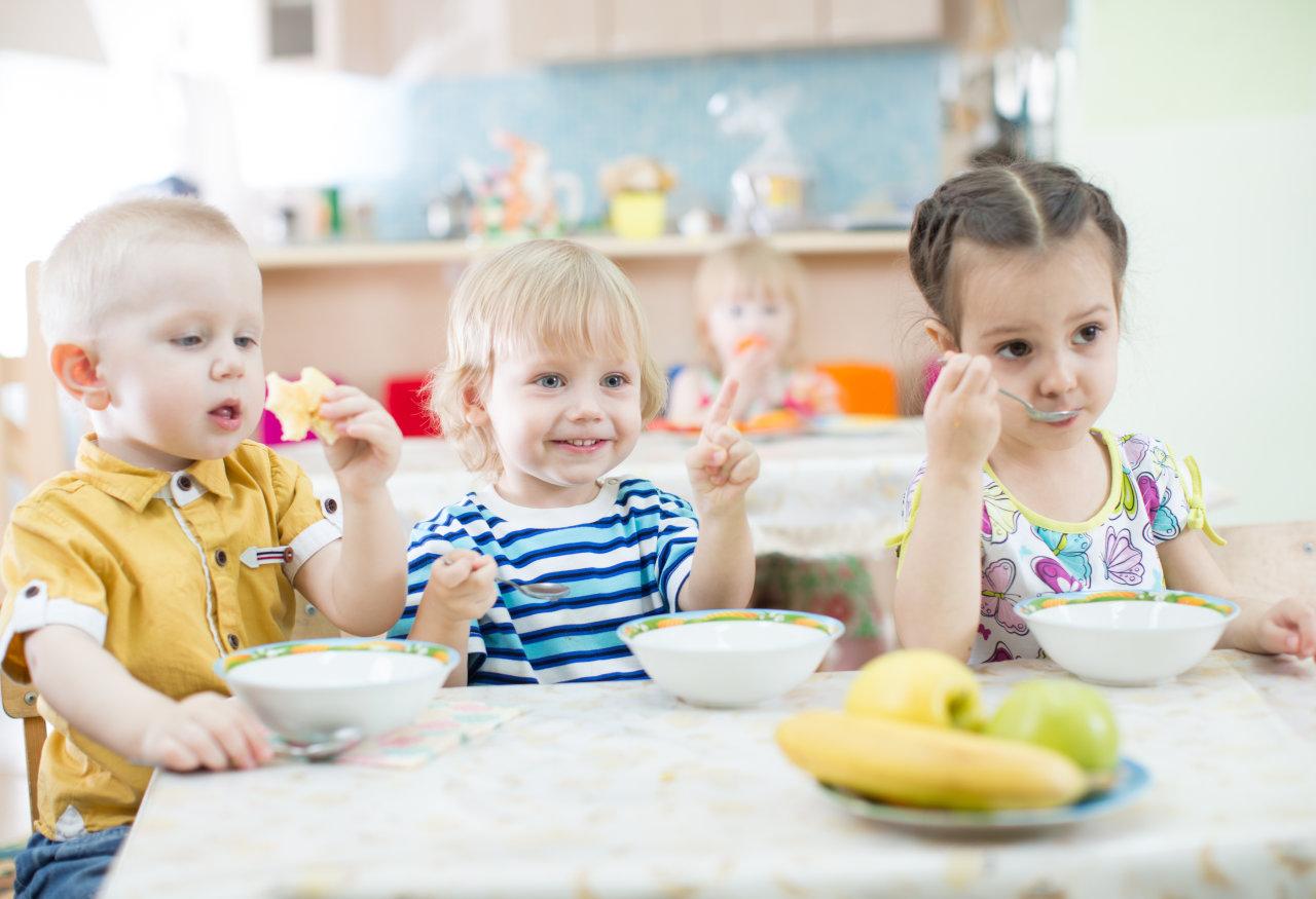 Обед в детсаду