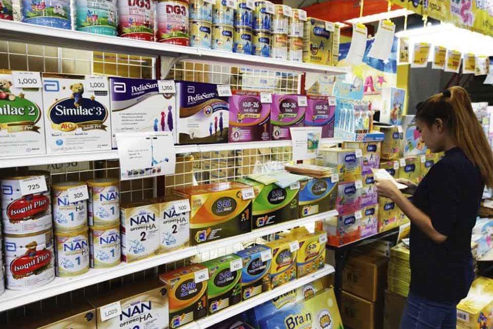 Детское питание в супермаркете Таиланда