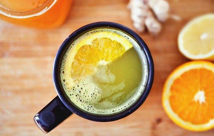 Витаминный чай с имбирем, медом и лимоном
