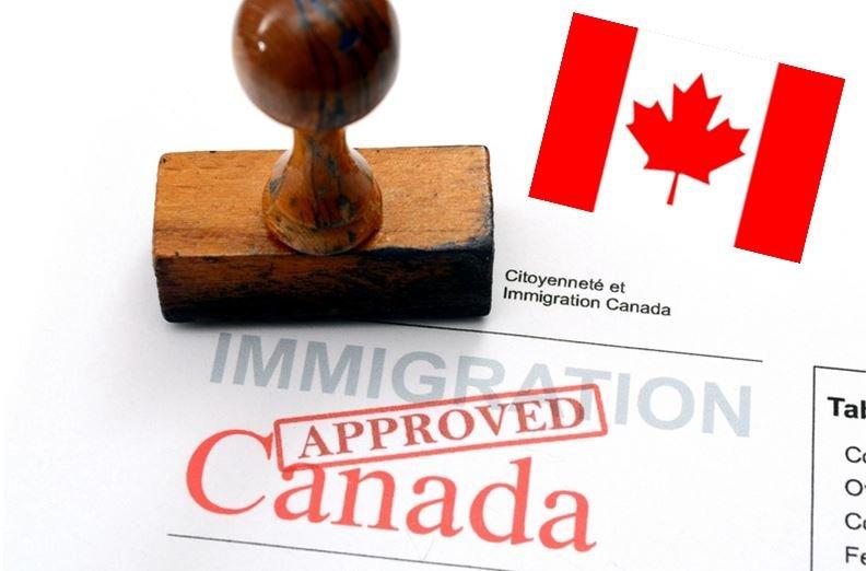 штамп об иммиграции в Канаду