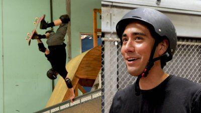 Tony Hawk Learns a Skate Trick from Zach King | Magic with Celebrities видео