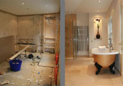 С чего начать ремонт стен в ванной комнате?