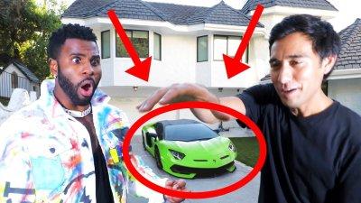 I broke Jason Derulo's Lamborghini   Magic with Celebrities видео