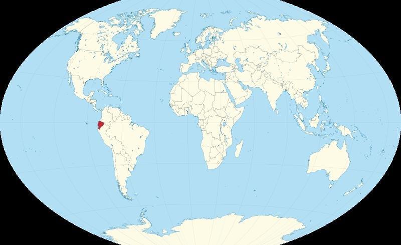 Эквадор на карте мира