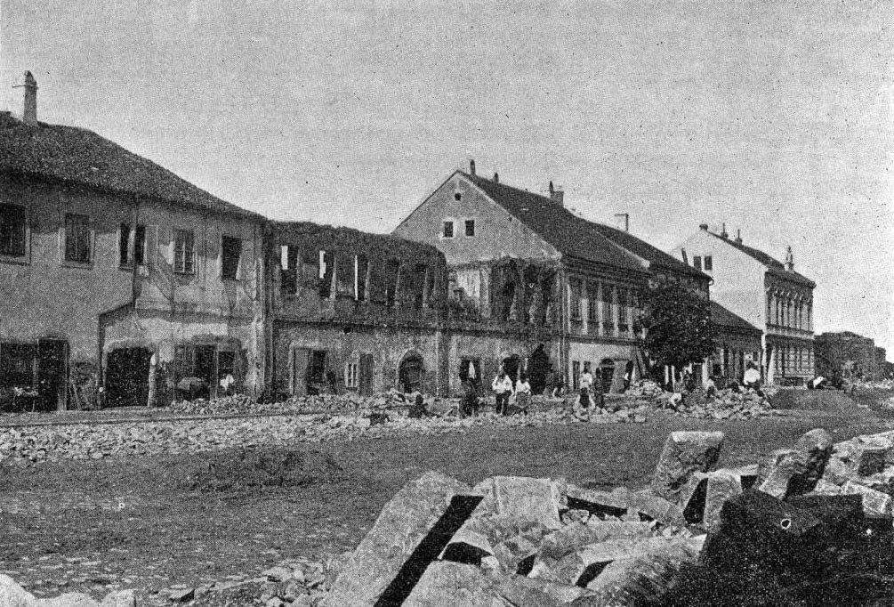 Белград после бомбежки