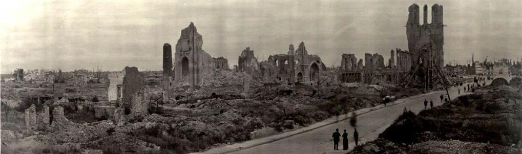 Руины Ипра, 1919 год, Бельгия