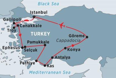 Памуккале, Турция - какой курорт ближе? Где находится Памуккале