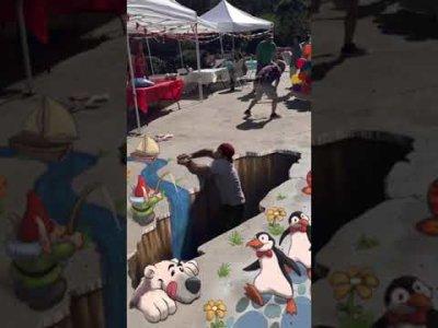 Never walk on street art #shorts видео