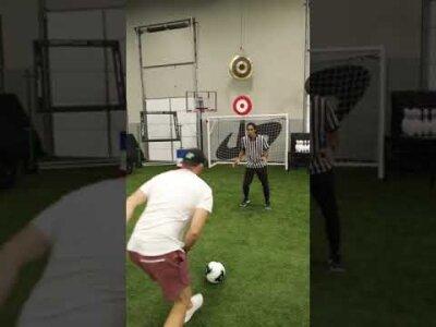Illusion trick shot w/ Dude Perfect #shorts видео