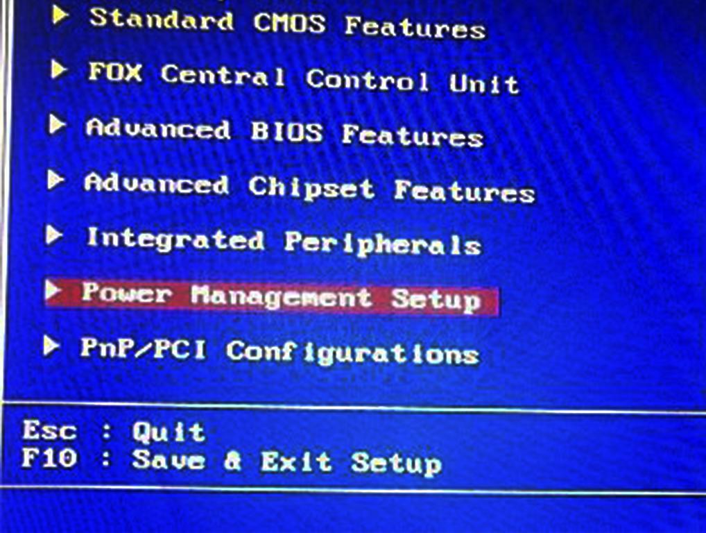 312e01f0337c В ней включаем следующий параметр  PowerOn By PCI Card. Также он может  называться Wake on LAN. Там же вы сможете обнаружить множество других, ...