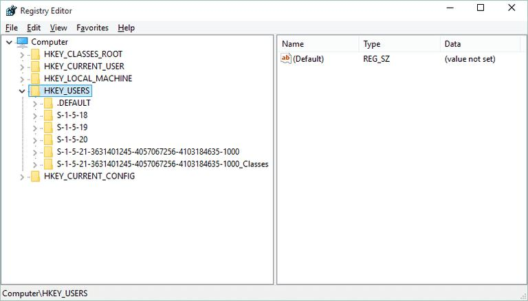 28c49bdec504 В ветке реестра HKU локациям файлов паролей соответствуют ключи в виде  длинных комбинаций, начинающиеся со значений «S-1-5-21». Но это в  большинстве случаев ...