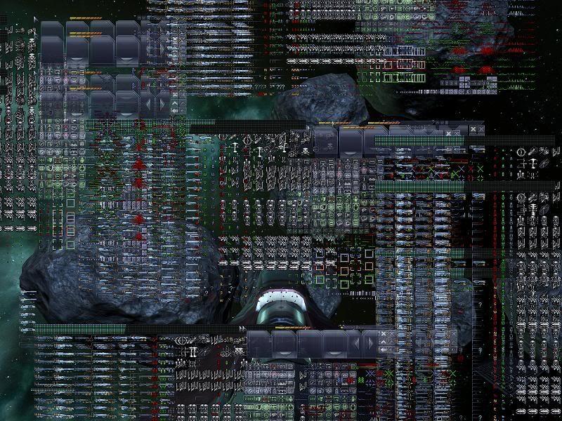 Побочные эффекты на экране монитора