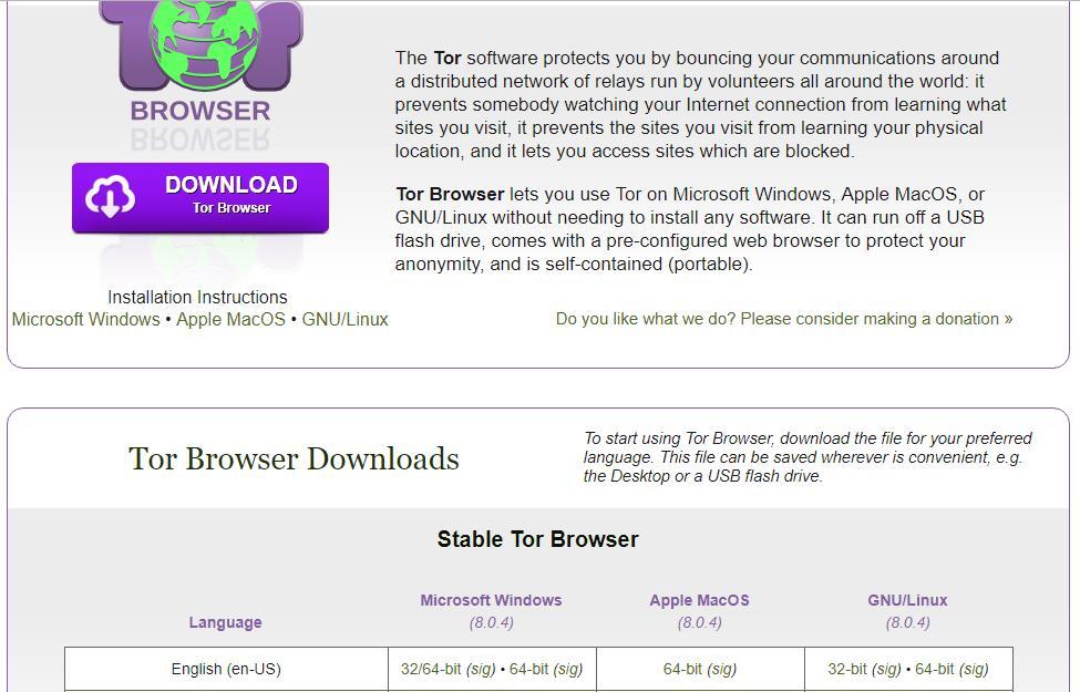 браузер тор скачать на английском