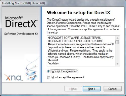 Установка обновленной платформы DirectX