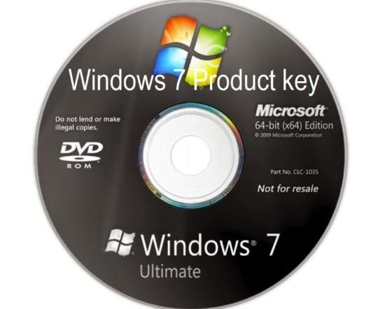 Ключ продукта на упаковке диска